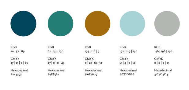 Caspar Alexander brand colours