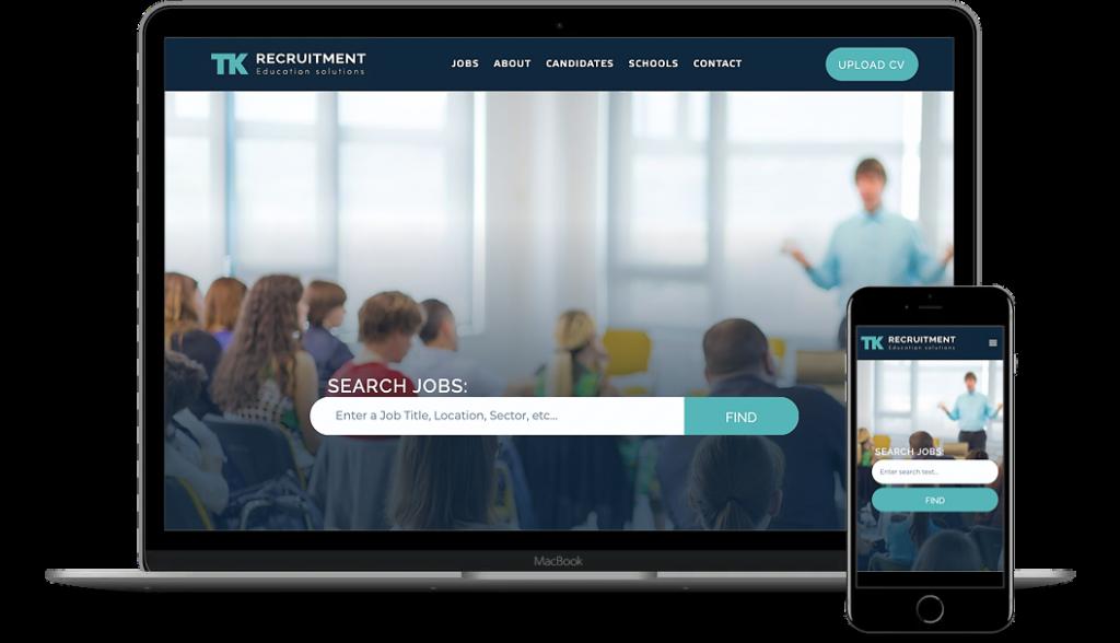 TK Recruitment website mockup